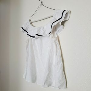 Crown ivy white maternity top